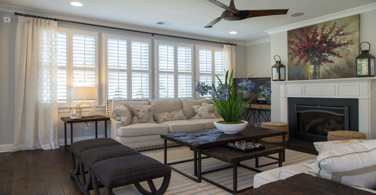 Interior Shutters in Minneapolis Living Room