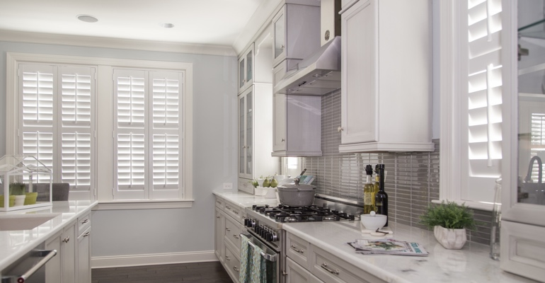 Minneapolis kitchen white shutters