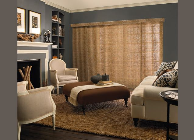 Minneapolis living room wide vertical blinds