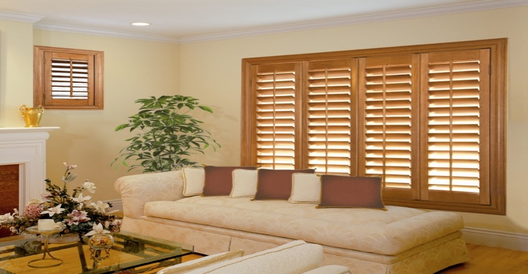 wood shutters Minneapolis parlor