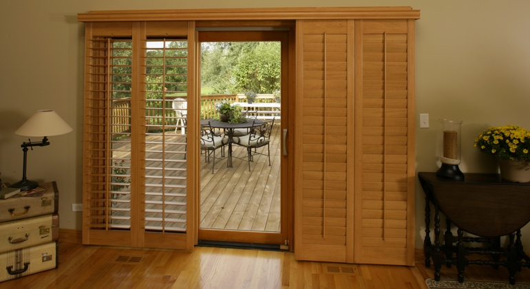 Minneapolis wood shutter sliding door