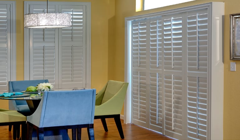 Patio Doors with Plantation Shutters in Minneapolis
