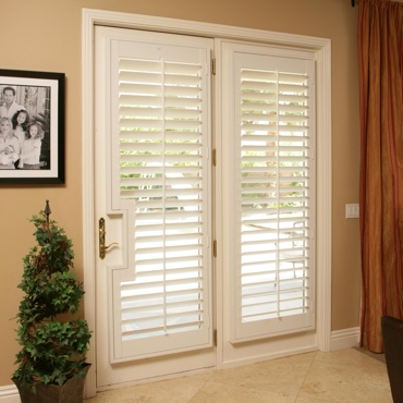 Patio French Door Shutters Minneapolis