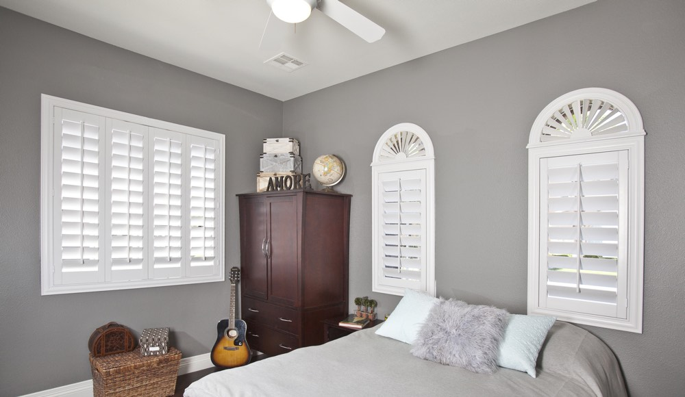 Polywood Shutters In A Minneapolis Bedroom