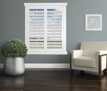 Polywood Shutters in Minneapolis living room