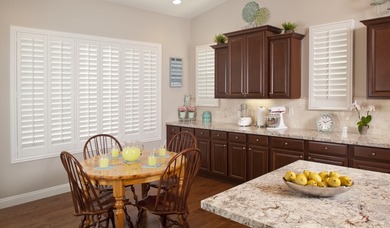 Polywood Shutters in Minneapolis kitchen