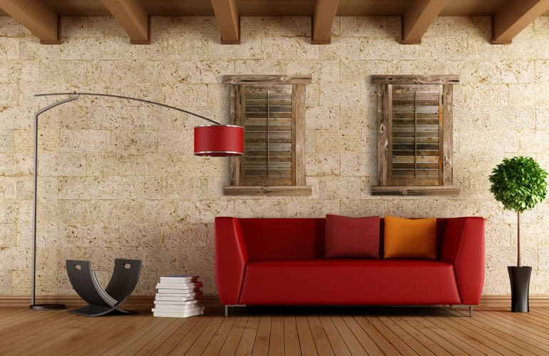 Reclaimed Wood Shutters In A Minneapolis Living Room