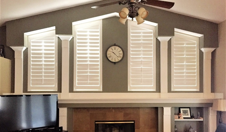 Polywood Shutters in Family Room in Minneapolis