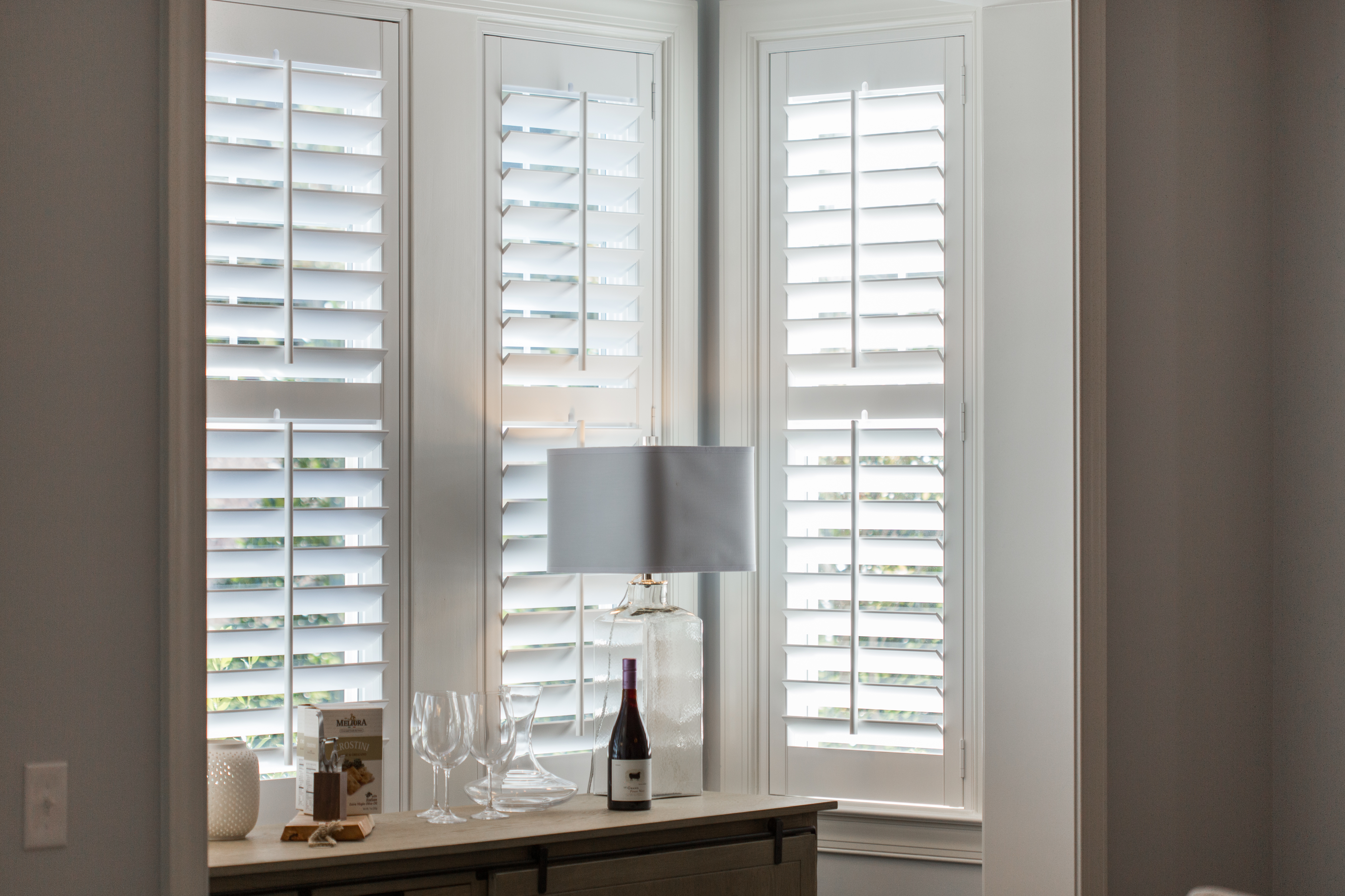 Polywood shutters in Minneapolis alcove.