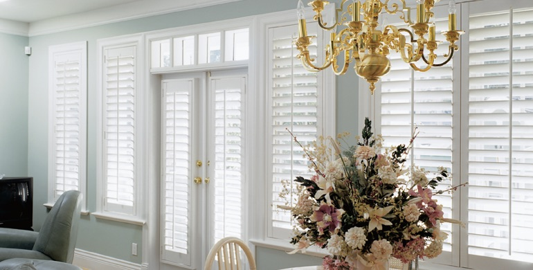 Minneapolis sunroom polywood shutters