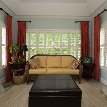 Minneapolis sunroom polywood shutters.