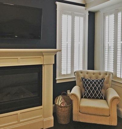 Neutral Living Area With Shutters