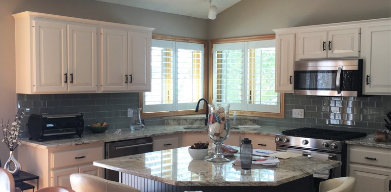 Minneapolis kitchen with shutters and appliances