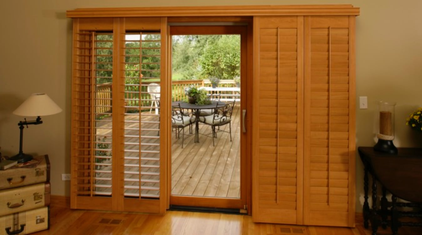 Sliding Glass Door Shutter In Minneapolis