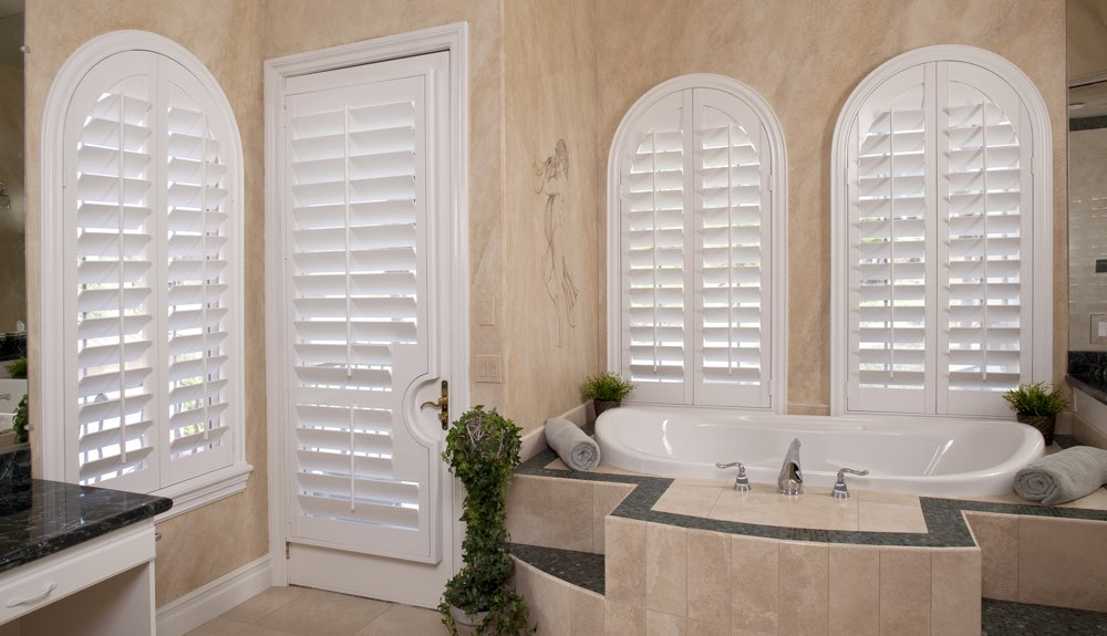 Arched Shutters In A Minneapolis Bathroom