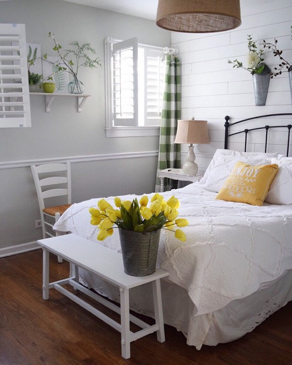 Minneapolis cottage bedroom shutters